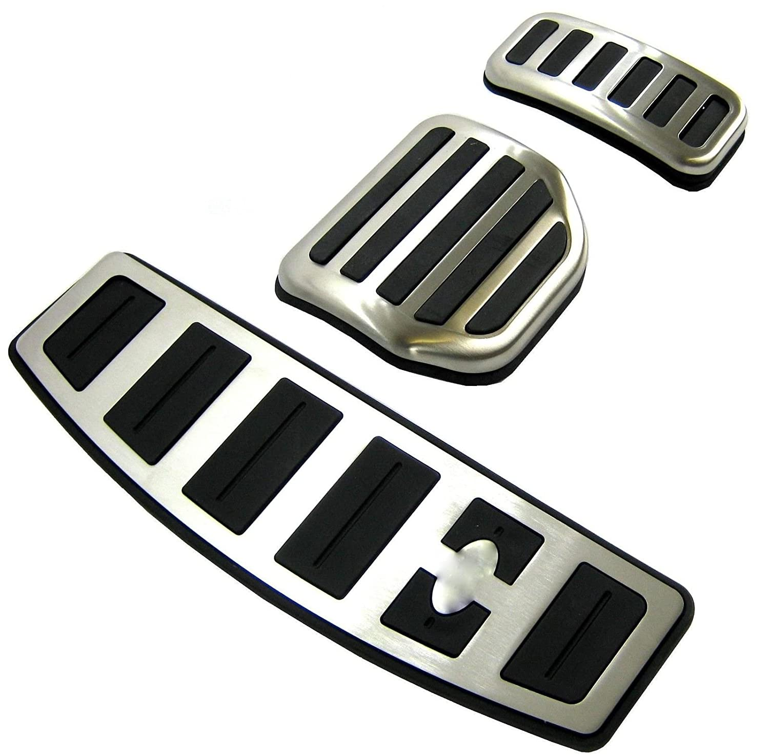 No Drill Gas Brake Pedal Stainless Steel Anti-slip Accelerator Brake Pedal Cover Fits Discovery 3+4 A alloy brake covers (AT)