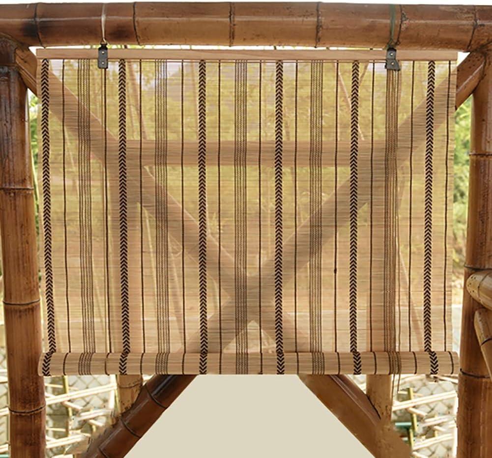 Taille Personalis/ée CAIJUN Rideau De Bambou Volet Roulant Carbonisation Cr/ème Solaire Respirant Anti-UV Sant/é Size : 45x80cm