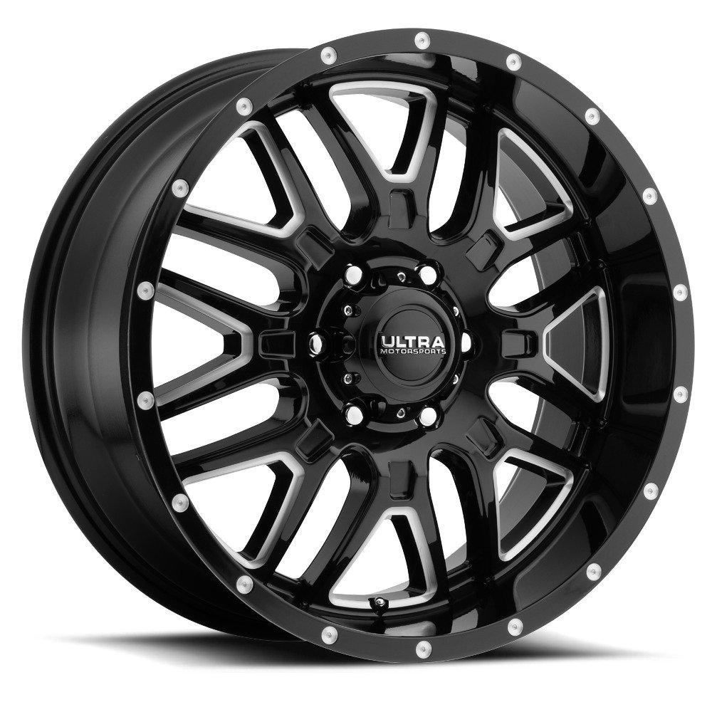 Ultra 203BM Hunter 20x10 8x170 -25mm Black/Milled Wheel Rim