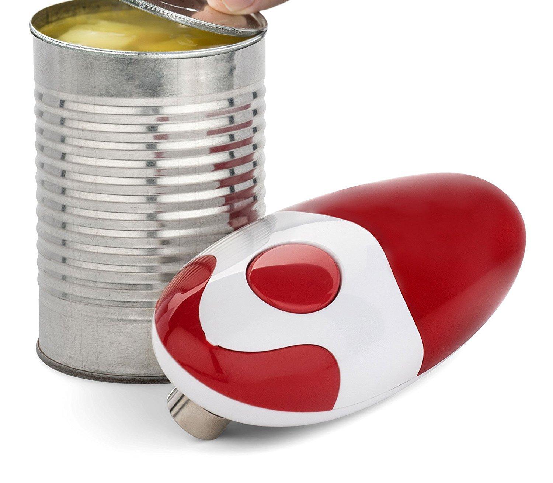 Bartelli Elektrischer Dosen/öffner mit weichem Rand batteriebetrieben Rot