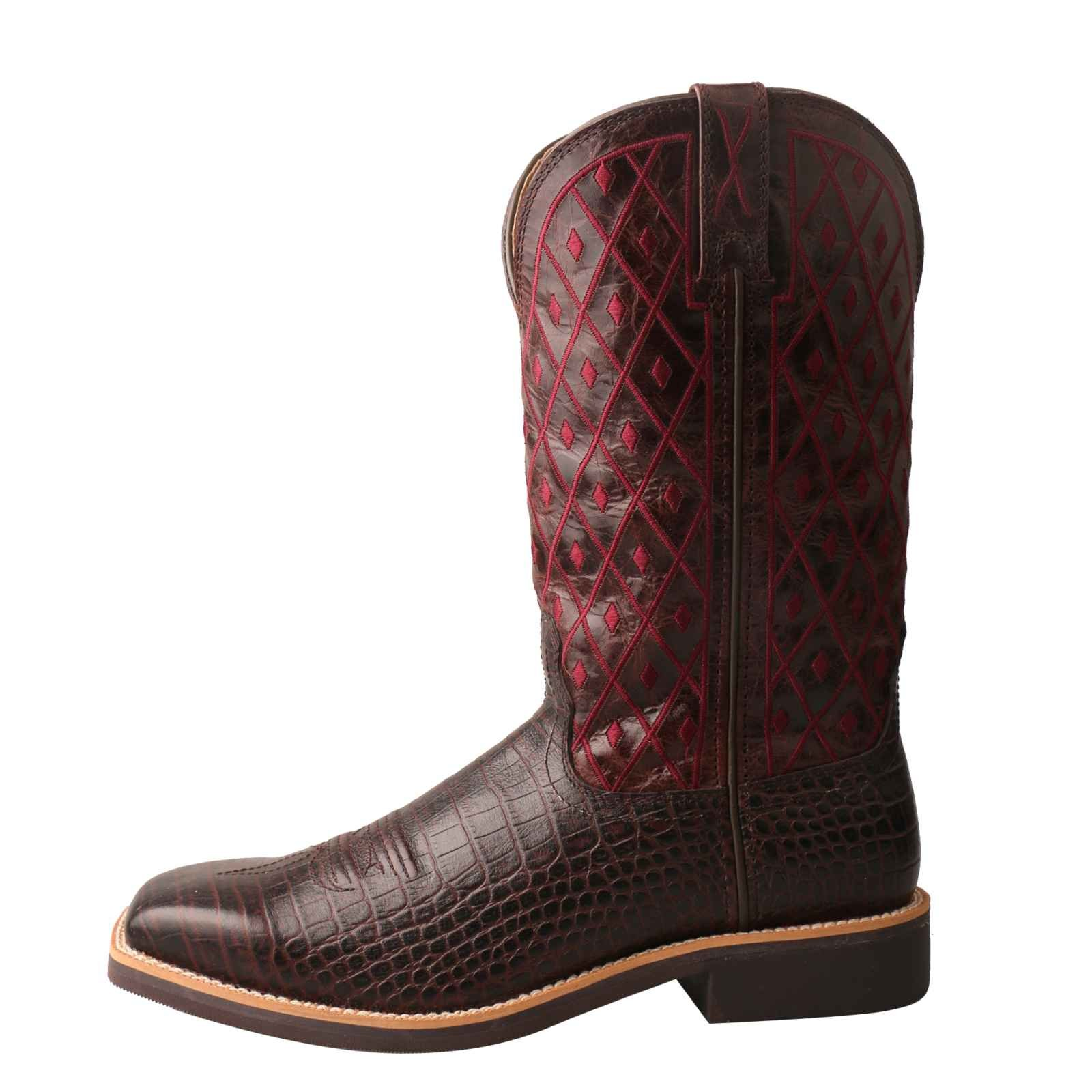 Twisted X Women's Top Hand Caiman Print Square Toe Cowgirl Boots (6.5) by Twisted X (Image #5)