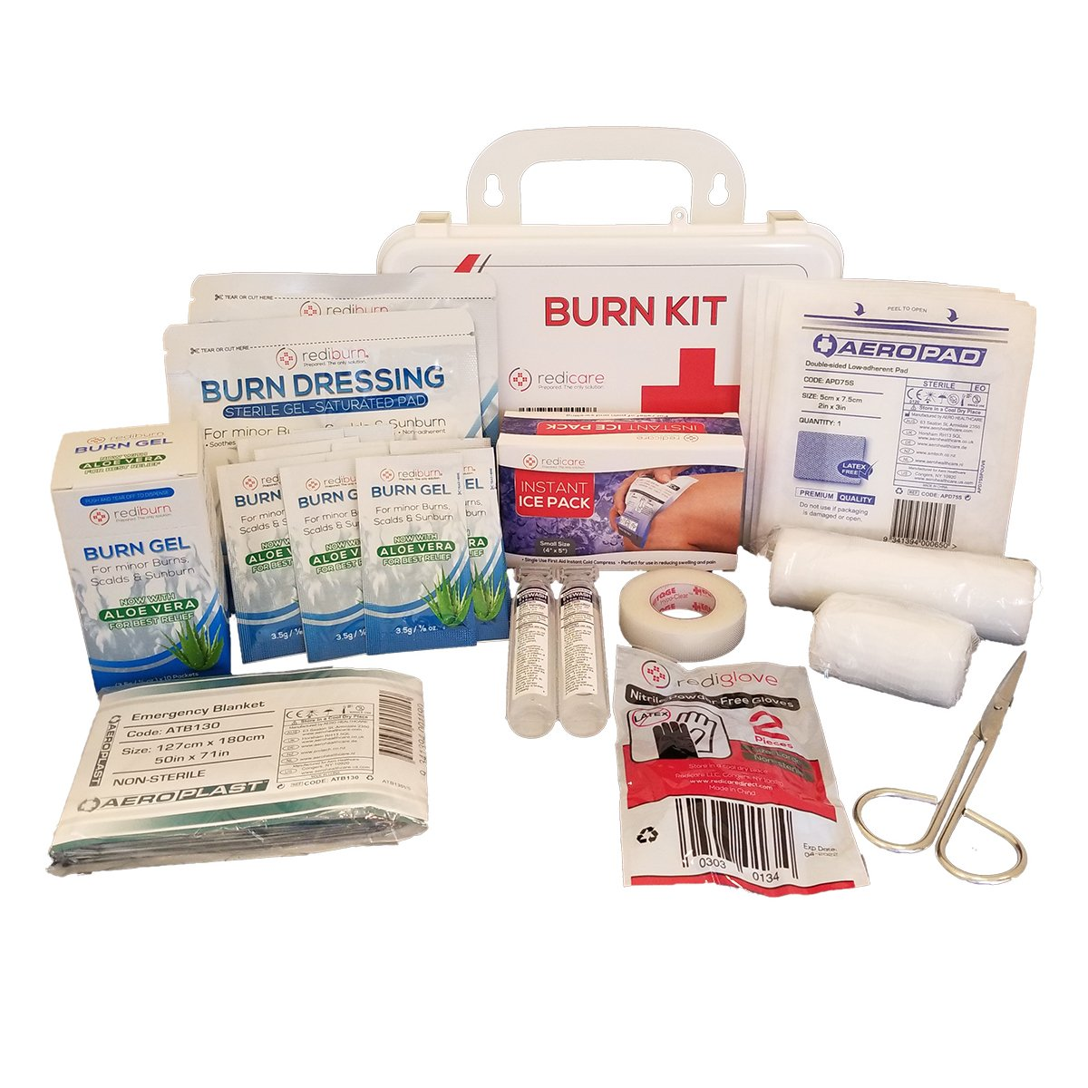 Redicare Emergency Burn Kit, First Aid Care, 27 Pieces
