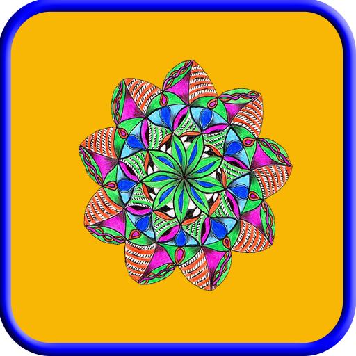 Doodle Coloring Designs - Hearts Kit Content