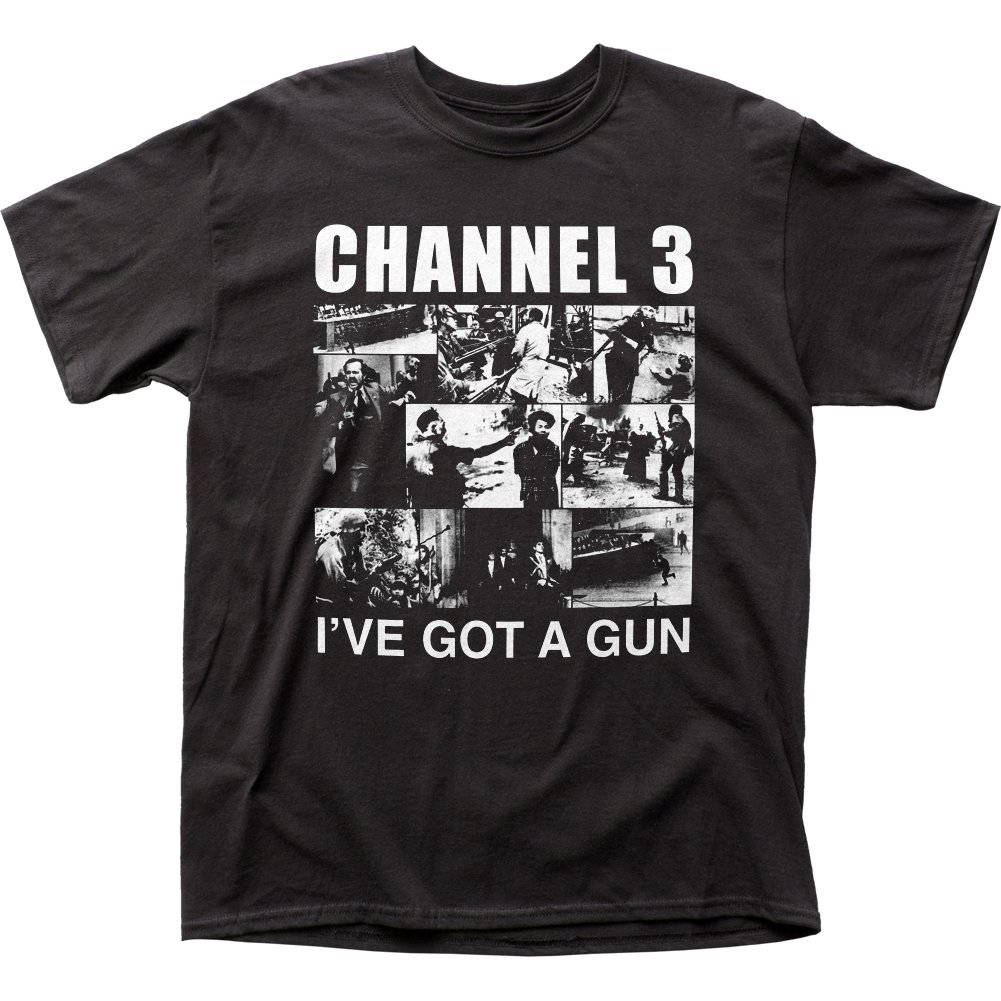 Channel 3 I've Got A Gun Traditional Fit 18/1 Cotton Tee (Medium)