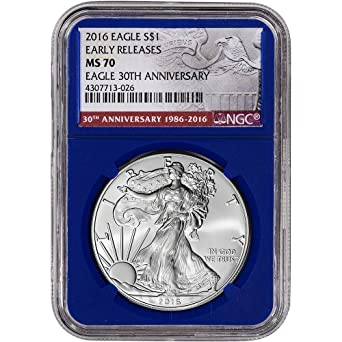 2010 American Silver Eagle ASE Early Releases 1oz .999 NGC Graded MS70