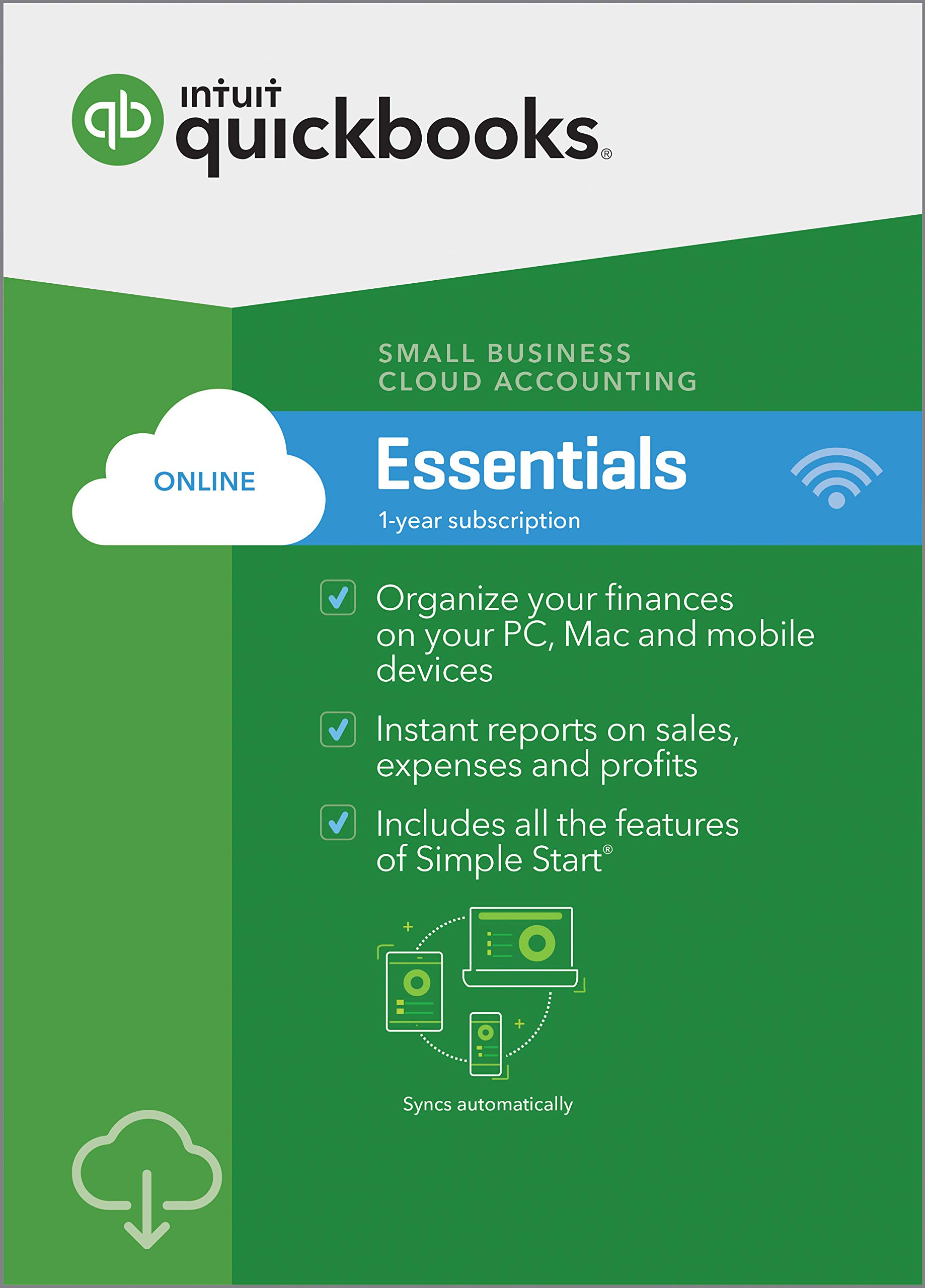 QuickBooks Online Essentials 2019, 1 Year Subscription [PC/Mac Online Code] [PC Download] by Intuit