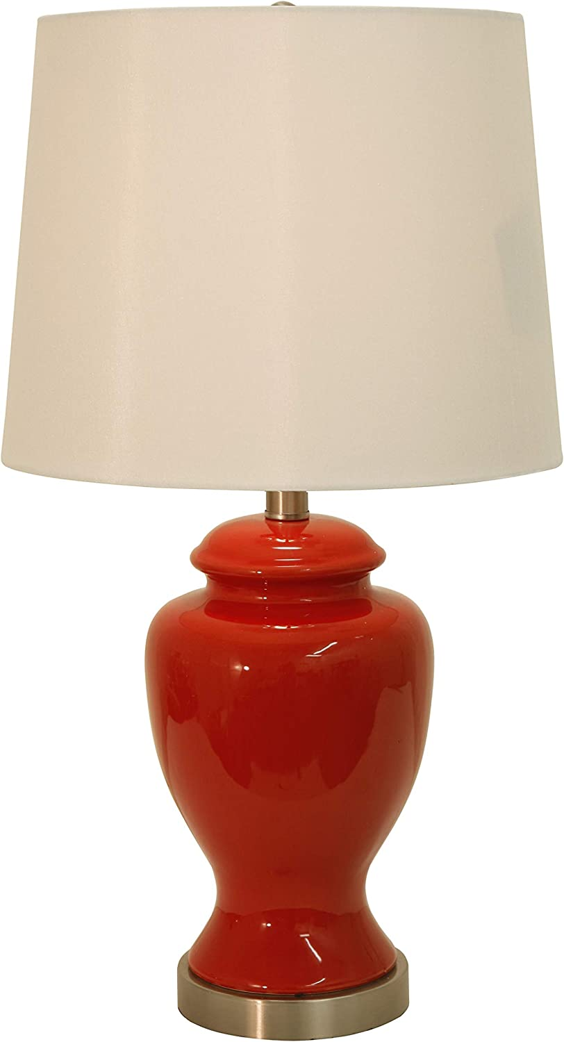Decor Therapy Table Lamp, 13x13x24, Burgundy