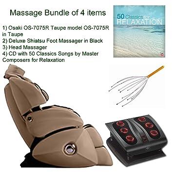 Massage Bundle Of 4 Items: Osaki OS 7075R Taupe Model OS 7075R Executive