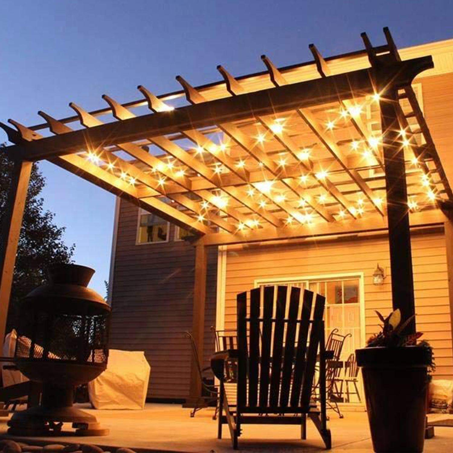50Ft G40 Globe String Lights with Bulbs Outdoor Market Lights for Indoor/Outdoor Commercial Decor Green Wire by Brightown (Image #6)