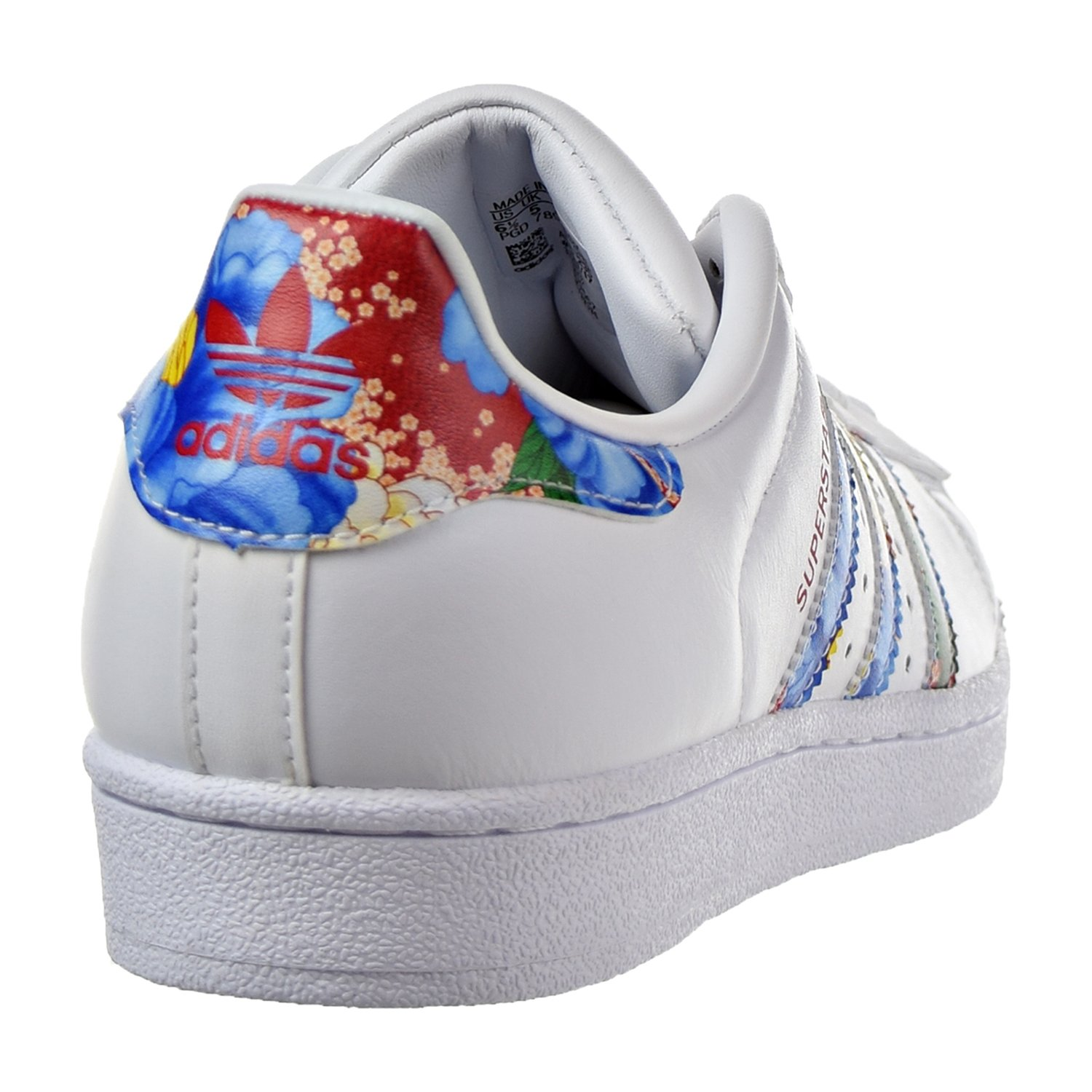 Superstar Adidas Chaussures Des Femmes Blanc / Rouge / Multicolore Bb0532 Dt72dO