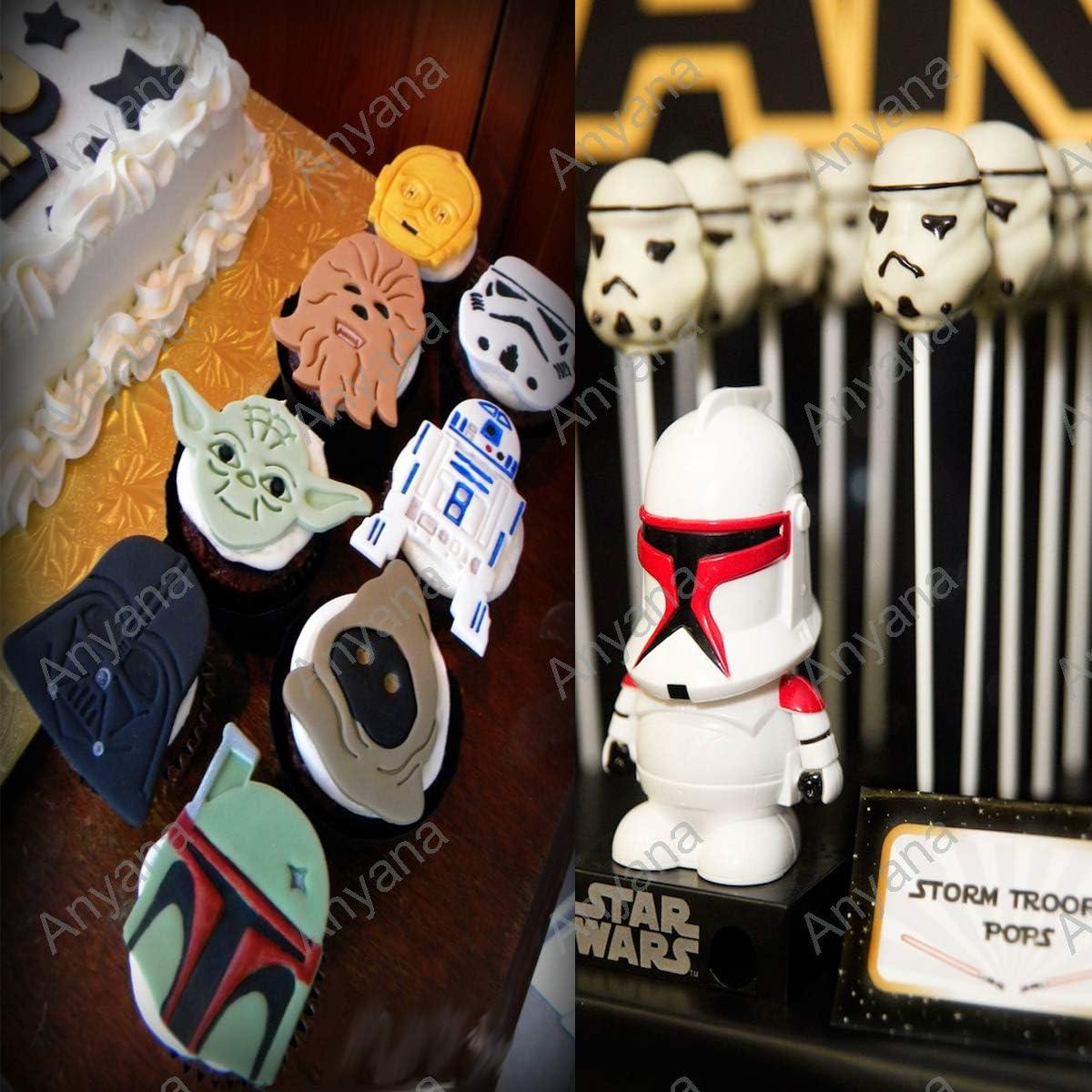 Amazon.com: anyana 4pcs Star Wars Cortador de Galletas ...