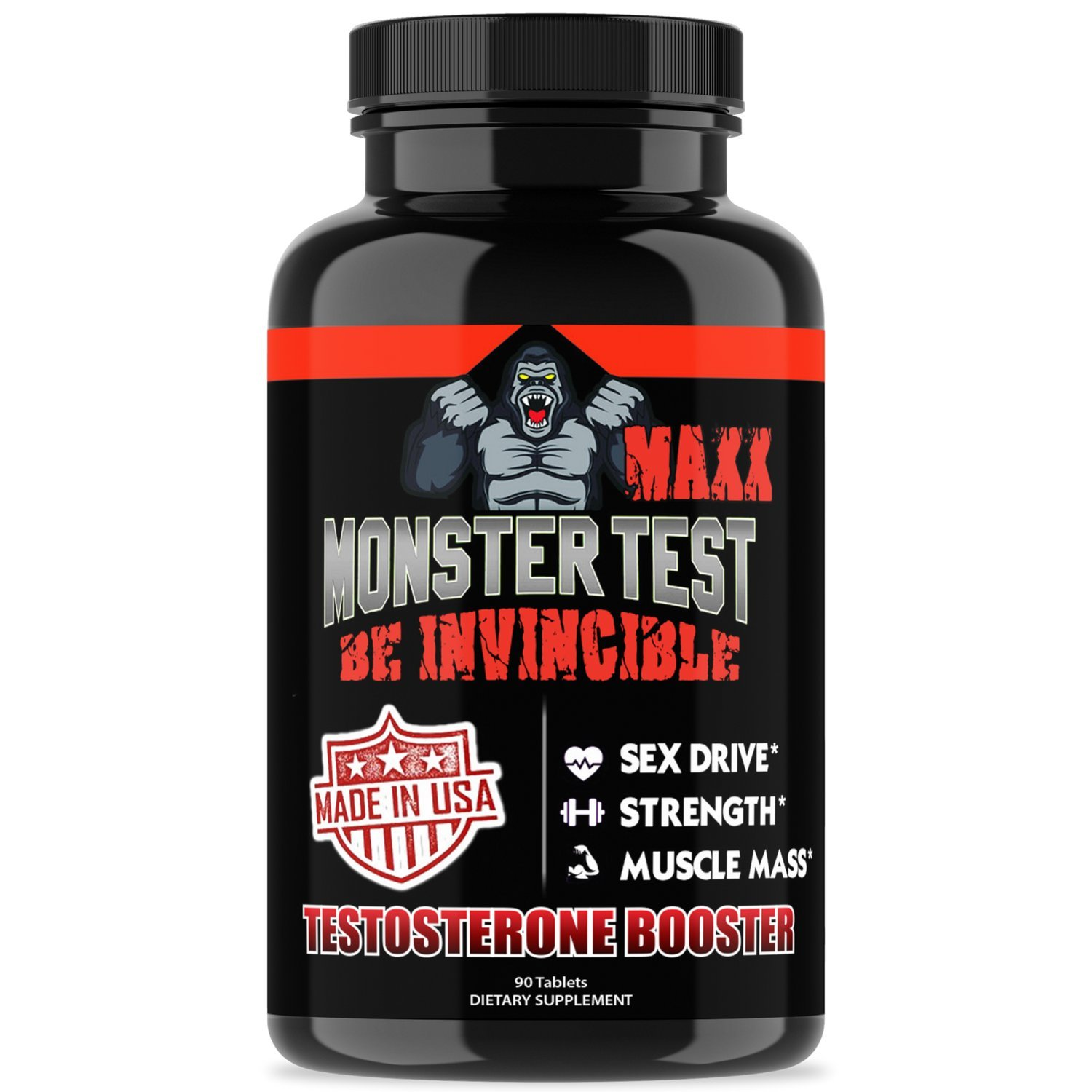 Amazon.com: Angry Supplements Monster Test MAXX Testosterone Booster for  Men - Maximum Strength Energy Pills for Natural Muscle Growth & Pump - Best  Kit to ...