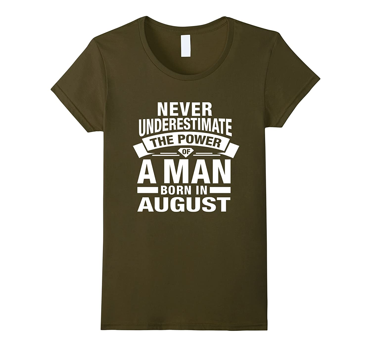 Never Underestimate The Power of A Man Born In August Shirts