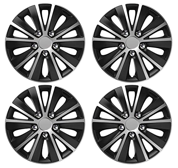 UKB4C 4 x Black Wheel Trims Hub Caps 16 Covers fits Nissan Primastar Primera Almera