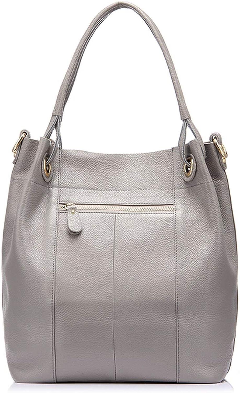 genuine leather bag women handbag red//gray//black tote bag female leather shoulder bag