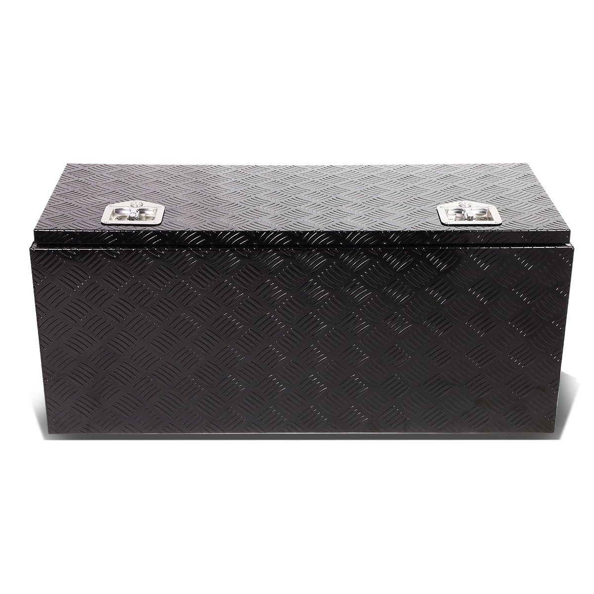 DNA Motoring TBOX-T2-36-ALU-BK 36''x18''x16'' Aluminum Truck Tool Box with Lock & Keys (Black)