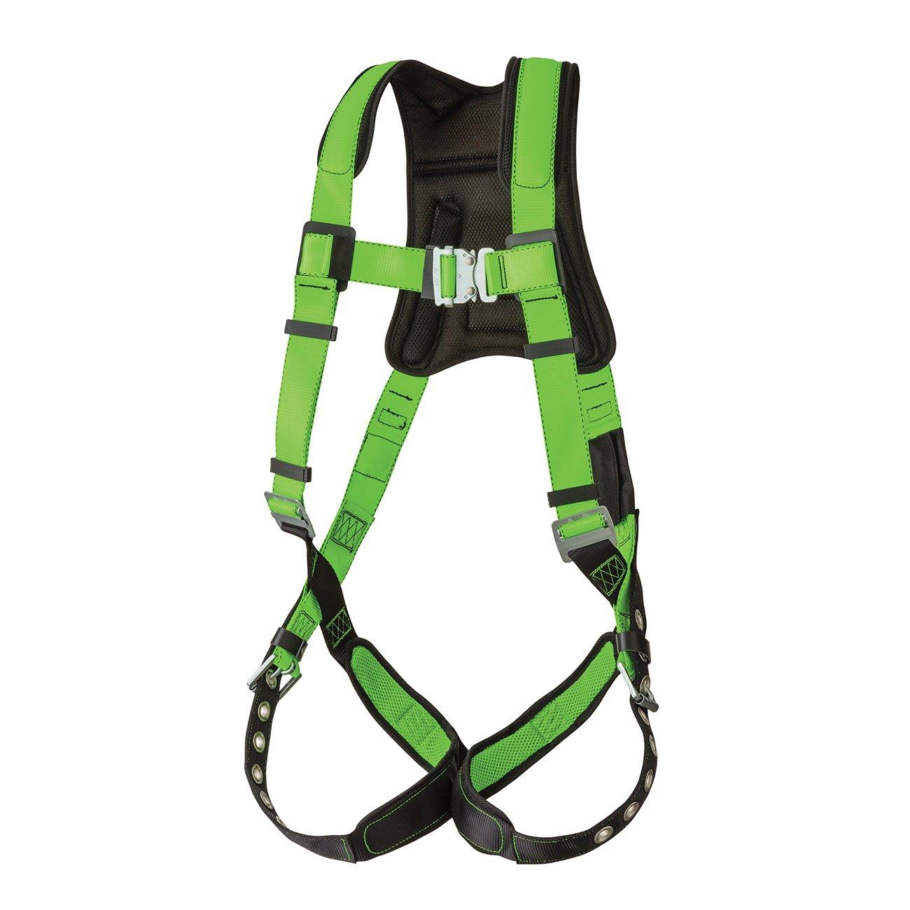 Peakworks Fall Protection V8006200 Peak Pro Series, Full Body Padded Safety Harness, Back D-Ring, Grommet, Polyester, Universal