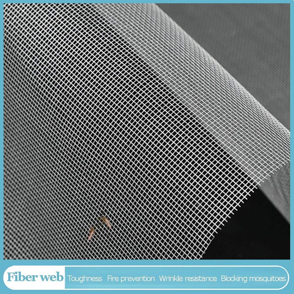 MJMZNDQ Self-Adhesive Window Screen Netting,Mosquito Window Netting,Easy to Install and Remove,Anti Mosquito Window net mesh Easy to Clean,Black White,White,180x170cm(71x67inch) by MJMZNDQ (Image #3)