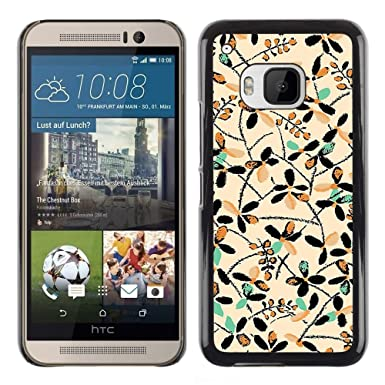 For HTC One M9   Native Drawing Teal Art Case Cover Protection Design Ultra  Slim Snap