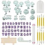 Aoafun Torta di Sugarcraft fondente di 88pcs che decorano il corredo di attrezzo di modellazione di denti di taglio del rullo dello stantuffo con il perno di rotolamento, più liscio, gli strumenti del