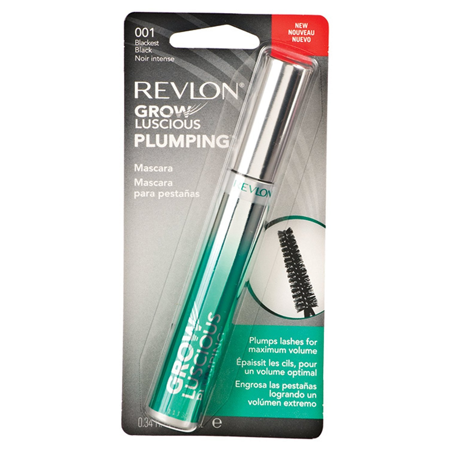 Amazon Revlon Grow Luscious By Fabulash 001 Blackest Black