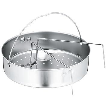 WMF - Set portacomidas calado de 22 cm de diámetro y puente para ollas rápidas