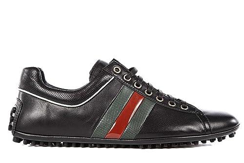 Gucci Zapatos Zapatillas de Deporte Hombres en Piel moora Negro EU 41.5 256824 BDEN0 1070: Amazon.es: Zapatos y complementos