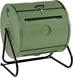 Mantis Easy Spin ComposTumbler CT09001 - Engineered to Make Compost Fast - Holds 37 Gallons -