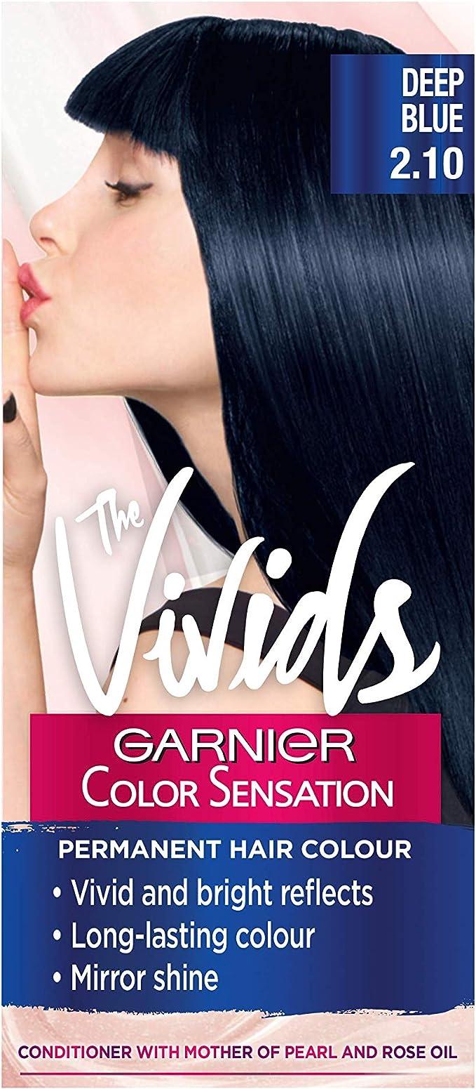 Garnier Color Sensation Vivids tinte permanente para el pelo, número 2.10, color azul oscuro