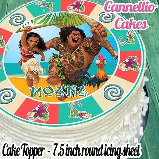 Moana troquelada & Maui comestibles decoración para ...