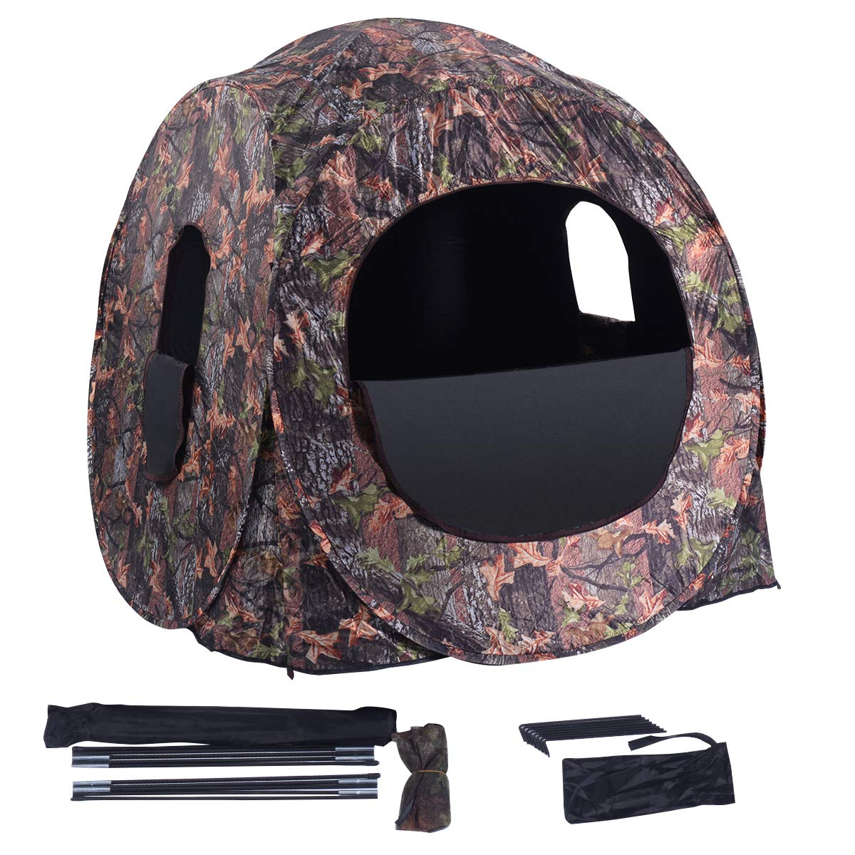 GYMAX Pop Up  Best For 360 Ground Blind