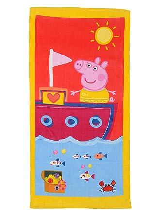 TOALLA DE PLAYA PEPPA PIG AVENTURAS 70 x 140 cm.: Amazon.es: Juguetes y juegos