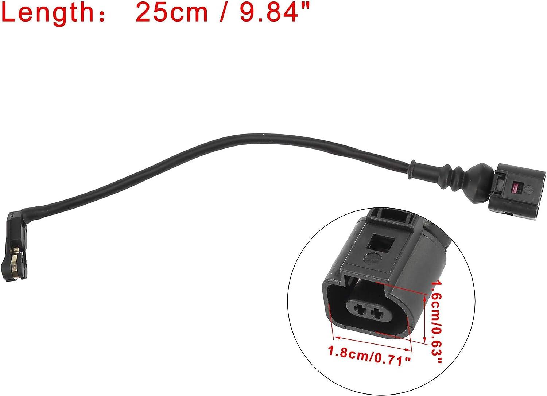 X AUTOHAUX Car Front Brake Pad Wear Sensor 2 Pins Replacement for Audi A5 Quattro 2014-2018 8S0615121A