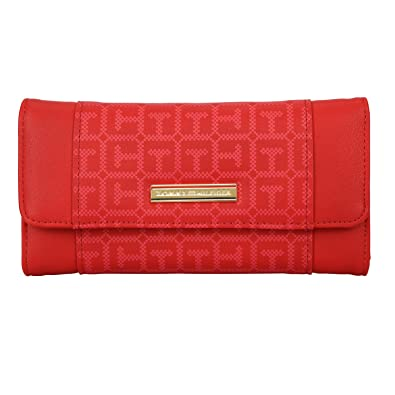 486077c7 Tommy Hilfiger Kinsey Women's Wallet (Red): Amazon.in: Shoes & Handbags