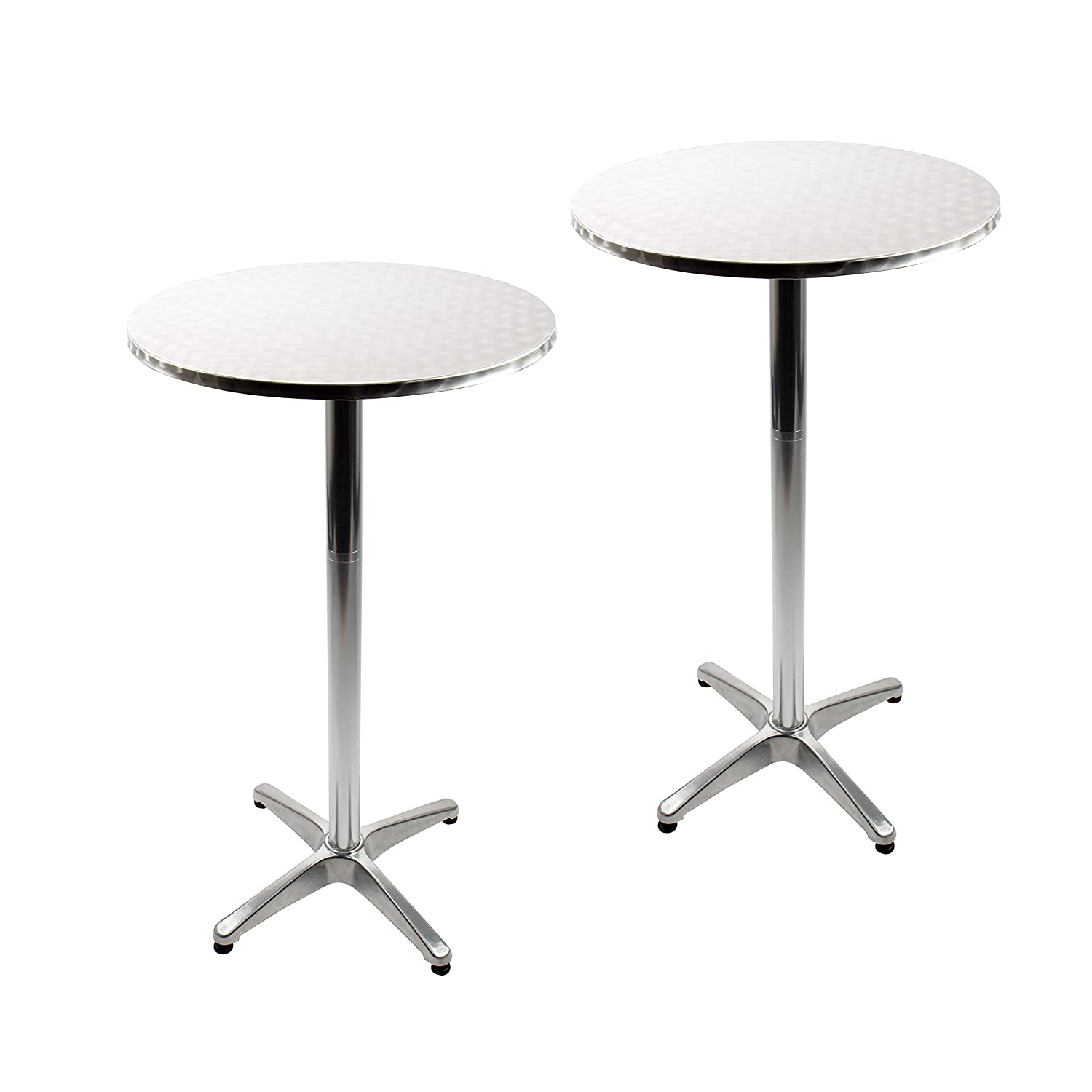 Vanage Aluminium Table with Adjustable Height – Bistro Table – Dimensions: Approx. 60 x 70/110 cm – Round Table Perfect as a Garden Table, Balcony or Terrace Table VG-9450