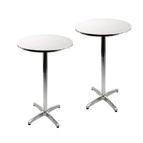 Tavoli Da Giardino Larghi 70 Cm.Vanage Tavoli Da Bistrot Set Da 2 Tavolini Alti Da Bar O Giardino