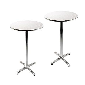 Vanage Aluminium Folding Table Set Of 2 With Adjustable Height U2013 Bistro  Table Set U2013 Dimensions