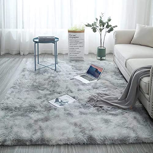 Ultra Soft Fluffy Rug Fur Rugs Anti-Skid Shaggy Area Rug Floor Carpet Home Decor 5.3 Feet