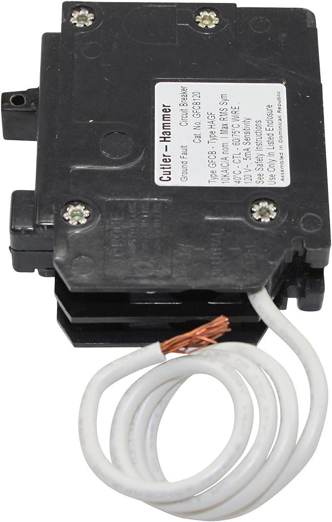 Eaton Cutler Hammer GFCB115CS  Type BR Circuit Breaker 15 amp 1 Pole GFCB115