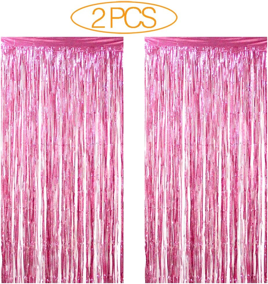 FOIL DOOR CURTAINS SHIMMER FRINGE PARTY DECORATION HALLOWEEN PARTY CHRISTMAS