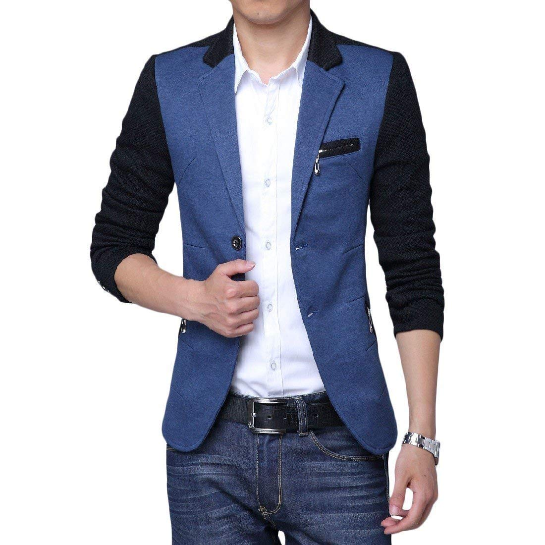 Blazer da Uomo Slim Blazer 1 Fit Blazer Casual Moderna Button Suit Giacche Primavera Business Basic Risvolto Casual da Uomo Casual Blazer da Uomo Elegante None