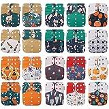 20 KaWaii Baby One Size Printed Snap Pocket Cloth Diaper Shells/Spring Sunshine Theme/Newborn to Toddler #1030