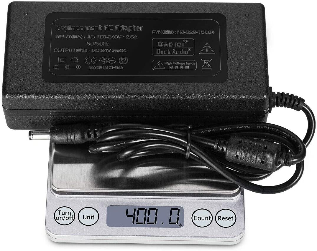 Nobsound DC 24V@6A 150W Power Supply Adapter; AC100~240V Power Brick for Amplifier