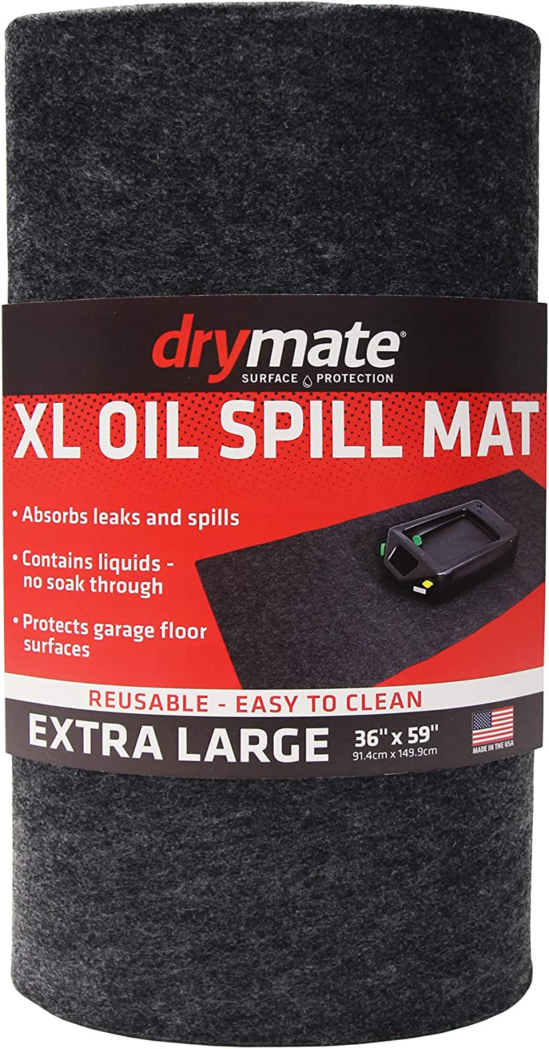 "Drymate XL Oil Spill Mat (36"" x 59""), Premium Absorbent Oil Mat – Reusable/Durable/Waterproof – Oil Pad Contains Liquids, Protects Garage Floor Surface (Made in The USA): Automotive"