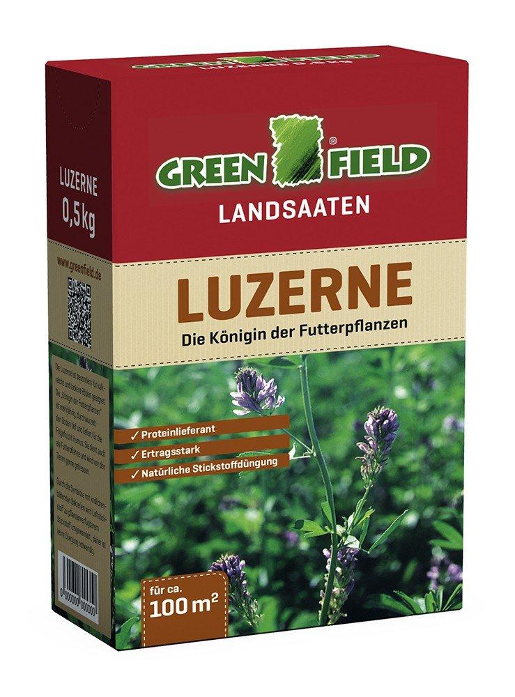 Freudenberger GREENFIELD Luzerne 500 g Saat Samen Futterpflanze Mantelsaat