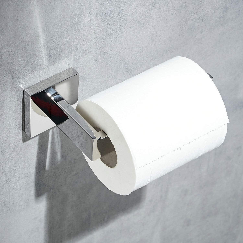 Beelee montaggio a parete Cromo Lucido 2 pezzi Portasciugamani//Portarotolo Carta Igienica Set accessori da bagno acciaio inossidabile BA1992DET