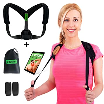 d884abea3529 Back Posture Corrector for Men Women - Shoulder Brace for Upper Back Pain  Relief - Posture Brace -...