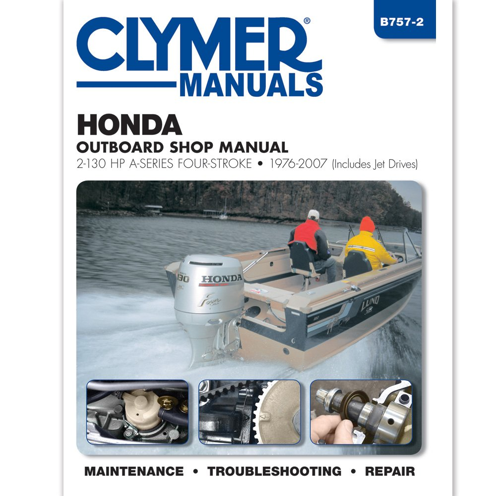 Amazon.com : Clymer Honda 2-130 HP Four-Stroke Outboards (Includes Jet  Drives) (1976-2005) : Powersports Equipment : Sports & Outdoors
