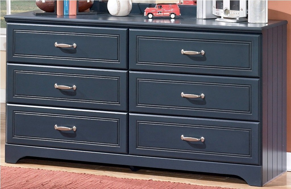 Ashley Furniture Signature Design - Leo Chest of Drawers - 6 Drawer Dresser - Traditional Style - Blue