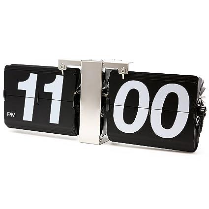Amazon.com: KABB Modern Digital Mechanical Retro Flip Dоwn Clock wіth Internal Gear Operated (14 Inch Black): Home & Kitchen